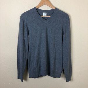 NWT Men's Gap v-neck grey sweater S